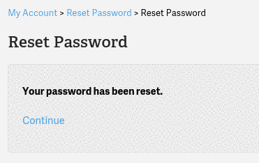 cPanel Password changed